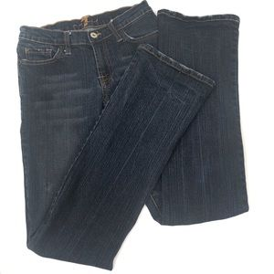 7 for all mankind bootcut pink pocket stitching